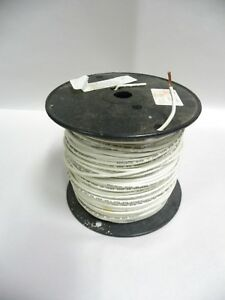 Republic Wire 12 Awg Stranded Copper Wire Slightly Used 500 Spool White a13