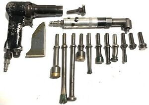 Ingersoll Rand Avc 12 3x Rivet Gun Air Ratchet W bucking Bar Sets Aircraft Tool
