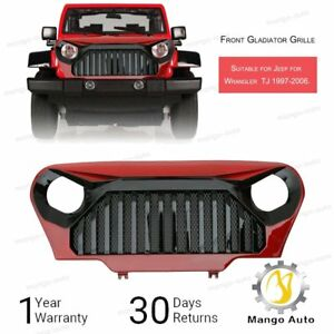 97 06 Tj Jeep Wrangler Gladiator Vader Angry Bird Grill Gloss Red