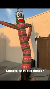 Ugly Sweater Green 20ft Air Dancer Sky Inflatable Tube Puppet For 18 blower