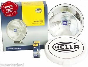 Hella 500 Series Round Spot Lamps 2pcs ute 4x4 Suv 4wd Forklift Genuine