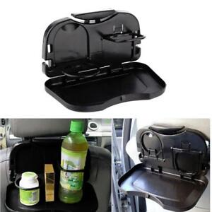Folding Auto Car Back Seat Table Drink Food Cups Tray Rack Holder Stand Desk Us