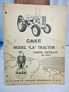 Original Vintage 1958 Case Model La Tractor Parts Catalog No G210 Manual