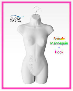 Woman Mannequin Body Dress Form White Haning Female Clothing Display Open Back