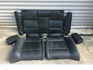 07 13 Oem Bmw E93 328 335 Convertible Black Interior Rear Bottom Upper Seats Set