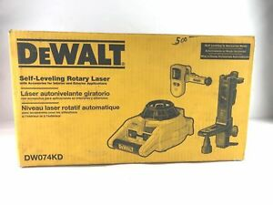 Dewalt Dw074kd Rotary Laser Level Kit Detector Self leveling Horizontal Vertical
