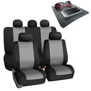 Car Seat Covers For Car Suv Van Neoprene Universal Fitment Gray Black W Gift