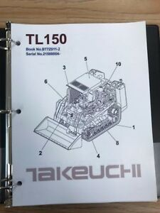 Takeuchi Tl150 Crawler Loader Parts Manual S n 21500004 And Up