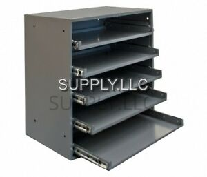 Metal Storage 5 Bins Drawers Tray Steel Parts Nuts Bolts Fasteners Heavy Duty