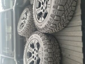 Black Midnight Chevy 18 Inch Wheels And Tires With Sensors And Bolts All Of Them