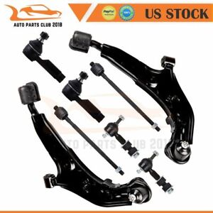For 1995 1998 1999 Nissan Maxima 8pcs Front Control Arms Tie Rods Sway Bars Kit