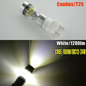 4x 3156 3157 Car Truck Brake Signal Turn Light Canbus Cree 100w White Led Lights