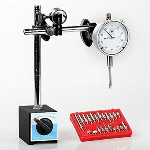 Dial Indicator Magnetic Base And Point Precision Inspection Tool Set 1 Pack Vp