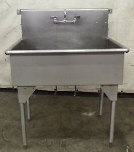 Stainless Steel Sink Single Compartment W Legs 39 X 27 X 48