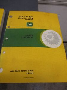 John Deere 655 755 855 Compact Utility Tractors Parts Manual Pc 2054