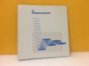 Rhode schwarz Signal Generator Am fm phim Smy 01 02 43 Operating Manual