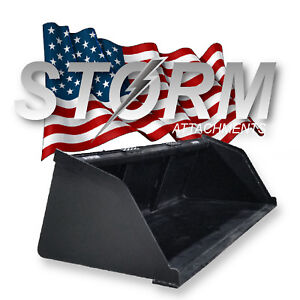Storm High Capacity Snow Mulch Bucket Fits Kubota Case Cat John Deere Bobcat