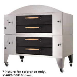 Bakers Pride Y 602bl dsp Super Deck Y Series Brick Lined Double Deck Pizza Oven