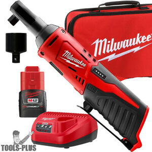 Milwaukee 2457 21p M12 Cordless 3 8 Lithium ion Ratchet Kit New