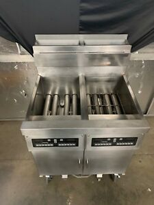 Dean Scfd250fncs Natural Gas Dual Fryer With Built In Filtration