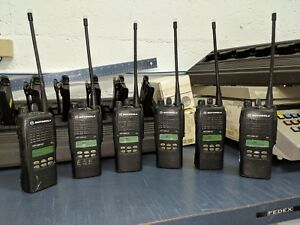 6 Used Ht1250 Ls Uhf W oem Multi Charger Used Batteries Antennas