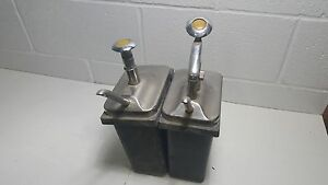 Vintage Soda Fountain Pump Dispenser Stainless Steel
