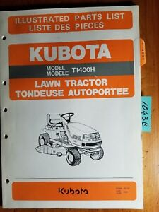 Kubota T1400h Lawn Tractor Illustrated Parts List Manual 97898 40131 6 93