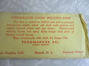 Vintage Lens For Welding Mask Dead Stock Thermacote