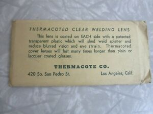Vintage Lens For Welding Dead Stock Thermacote Not Opened