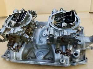 68 69 70 76 Offenhauser Buick 2x4 Dual Quad Intake Edelbrock 9503 Afb 500 Cfm
