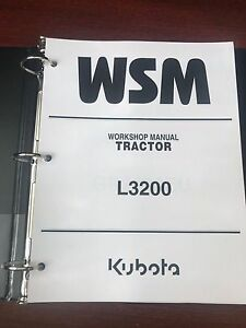 Kubota L3200 Tractor Repair Service Workshop Manual