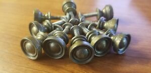 Set Of 10 Vintage Round Cabinet Drawer Door Knobs Pulls Rustic Bronze W Screws