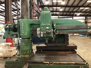 Carlton 8 X 19 Radial Arm Drill With 2 T slotted Extensions