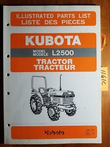 Kubota L2500 Tractor Illustrated Parts List Manual 97898 21920 3 97