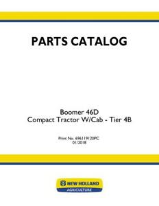 New Holland Boomer 46d Compact Tractor W cab Tier 4b Parts Catalog