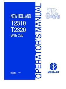 New Holland T2310 t2320 Tractors With Cab Hydrostatic Transmission Operator s M