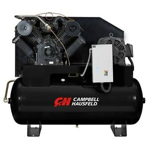 Campbell Hausfeld 25hp 120gallon 2stage 3ph Horizontal Air Compressor Ce9004 New