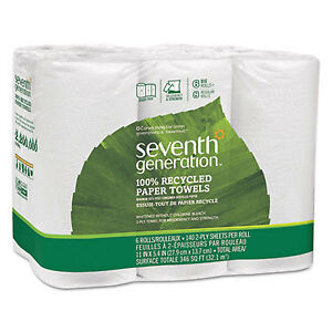 100 Recycled Paper Towel Rolls 2 ply 11 X 5 4 Sheets 140 Sheets rl 24 Rl ct