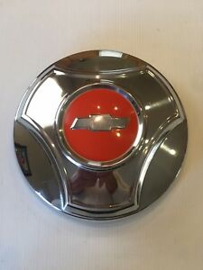 Nos 1964 1965 Chevrolet C 10 Pickup Truck Dog Dish Hubcap With Clips Chevy 64
