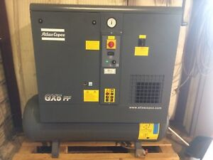 2017 Atlas Copco Gx5ff Rotary Screw Air Compressor With Dryer