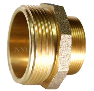 Nni 2 1 2 X 1 1 2 Male Nst Nh Fire Hose Hydrant Brass Adapter Nipple