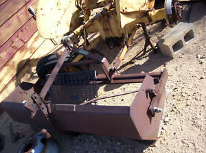 Vintage Tractor Gannon For 3 point Hitch Mf To 30 Ford Others 66 Wide Scraper