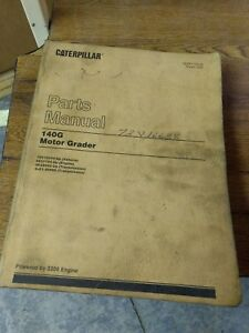 Caterpillar Cat 140g Motor Grader Parts Manual Sn 72v10334 up
