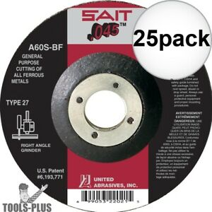 Sait 22021 4 1 2 X 7 8 X 045 Metal Cutting Wheel 25x New