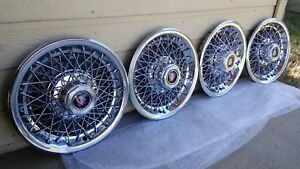1981 87 Buick Regal Limited Spoke Hubcaps Set Of 4 Nos 14 Inch Gm Oem Nice Shine