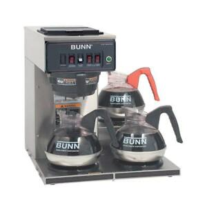 New Bunn 12950 0112 Cwtf15 3 0112 12 Cup Automatic Coffee Brewer 3 Warmers