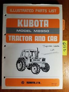 Kubota M8950 Tractor And Cab Illustrated Parts List Manual 07909 52770 6 85