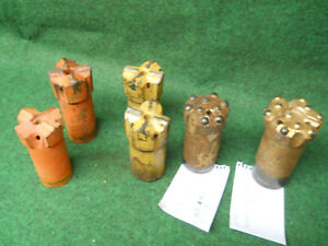 Atlas Timken Mitsubishi 64 Mm 2 1 2 78mm 3 Rock Button Drill Bit Lot Of 6 4