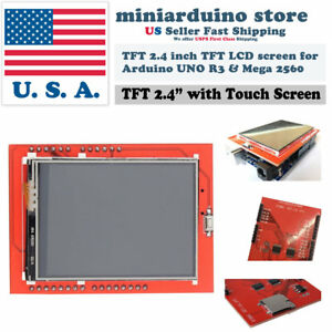 2 4 Tft Lcd Display Shield Id 0x9341 Touch Panel Screen Arduino Uno Mega Sd Card