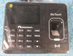 Acroprint Bio Touch Time Recorder New